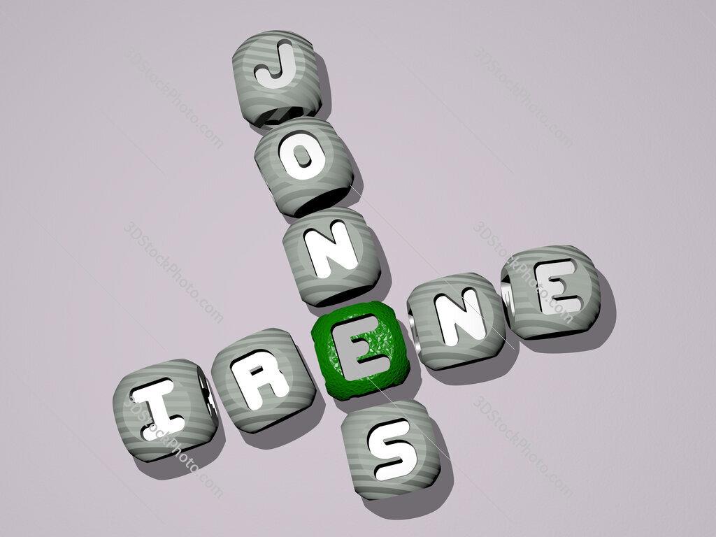Irene Jones crossword of dice letters in color