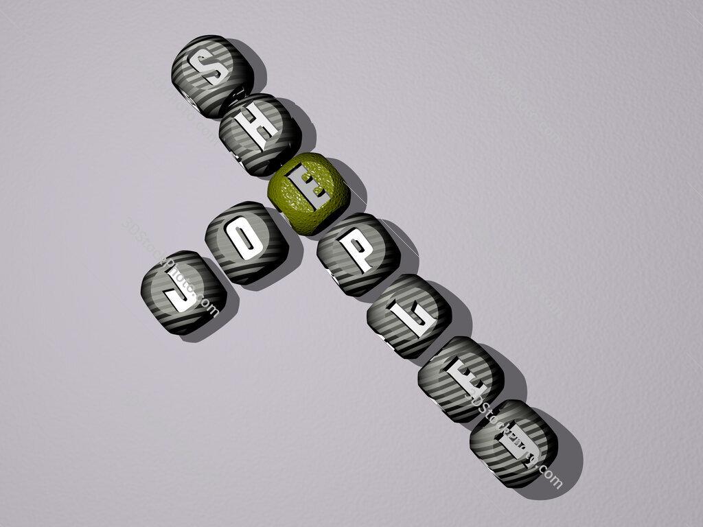 Joe Shepley crossword of dice letters in color
