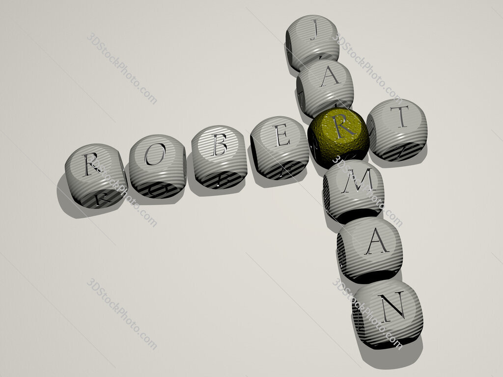 Robert Jarman crossword of dice letters in color
