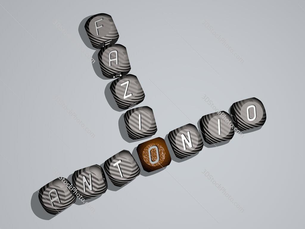 Antonio Fazio crossword of dice letters in color
