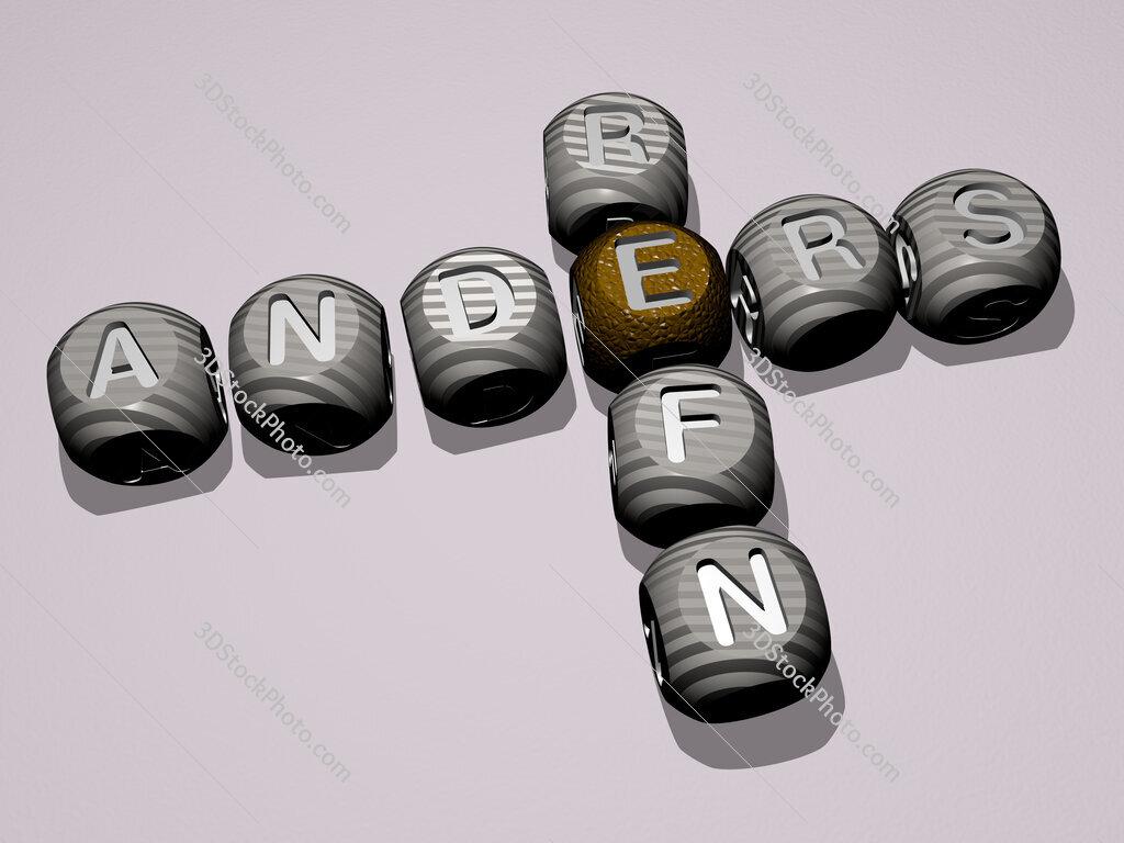 Anders Refn crossword of dice letters in color