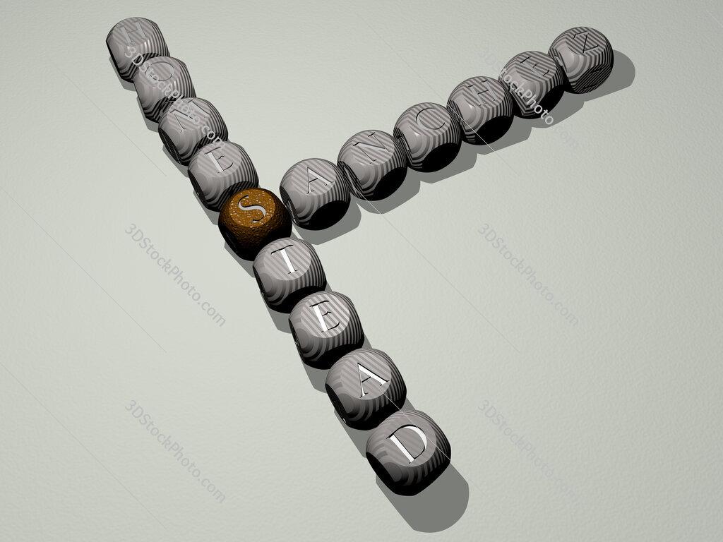 Sanchez Homestead crossword of dice letters in color