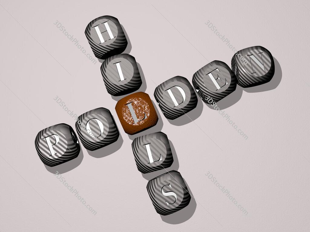 Polden Hills crossword of dice letters in color