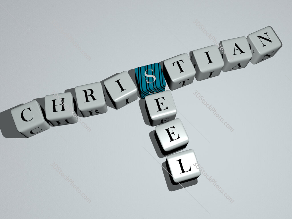 Christian Seel crossword by cubic dice letters