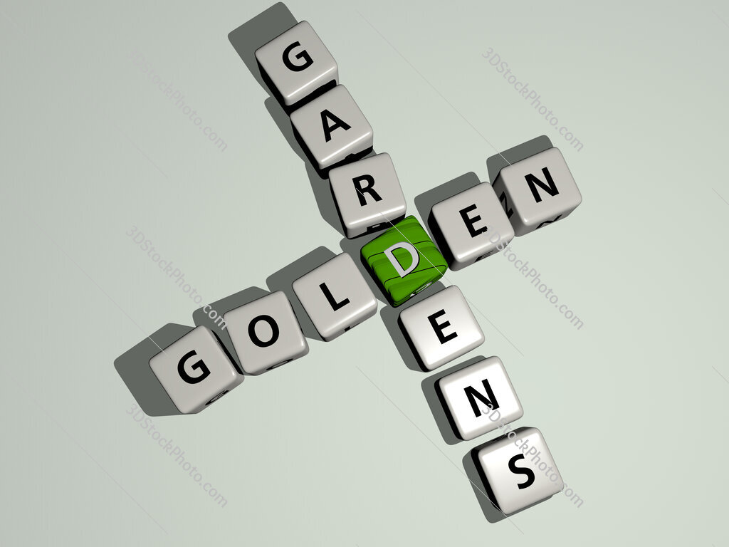 Golden Gardens crossword by cubic dice letters