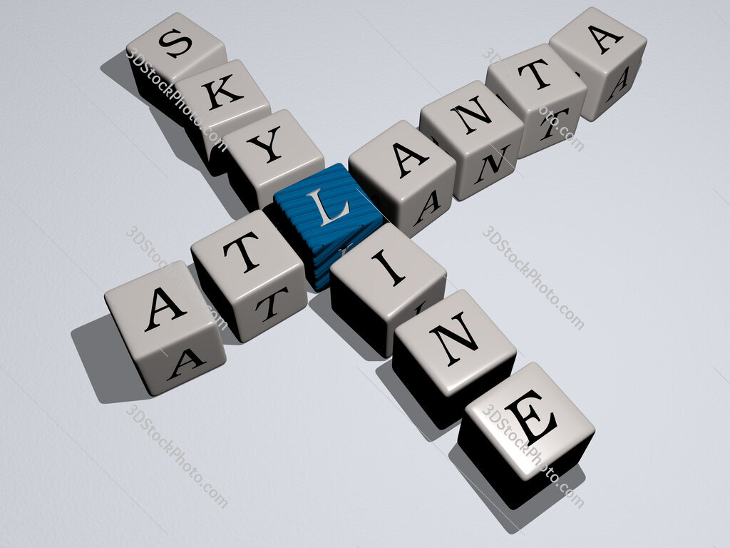 atlanta skyline crossword by cubic dice letters