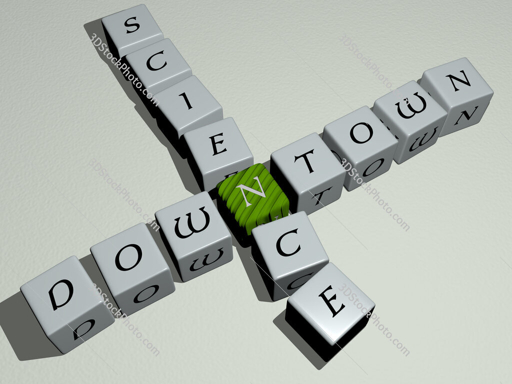 Downtown Science crossword by cubic dice letters