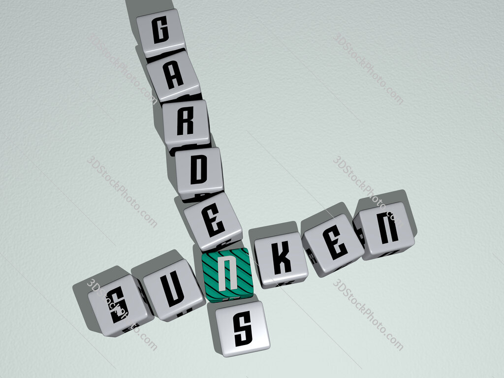 Sunken Gardens crossword by cubic dice letters