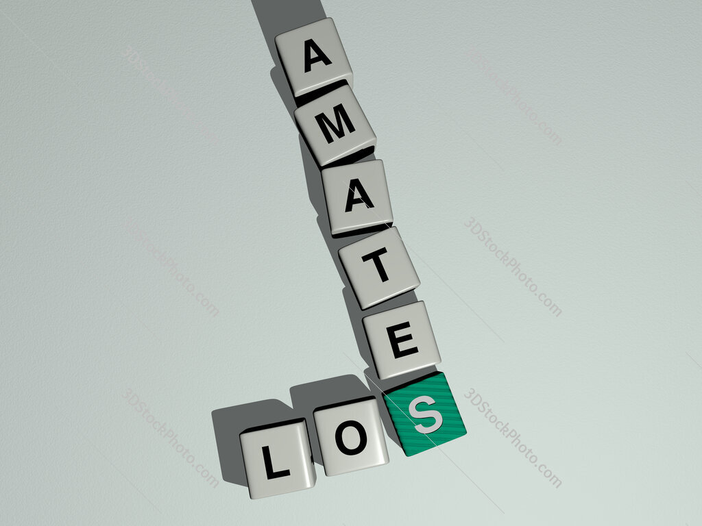 Los Amates crossword by cubic dice letters