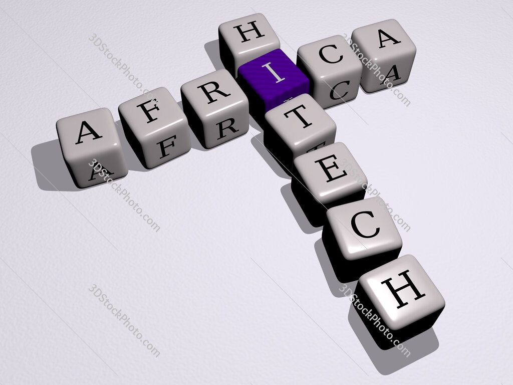 Africa Hitech crossword by cubic dice letters