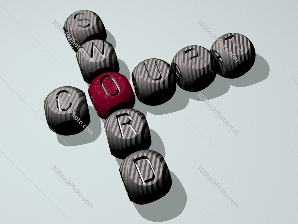 Court sword crossword of dice letters in color