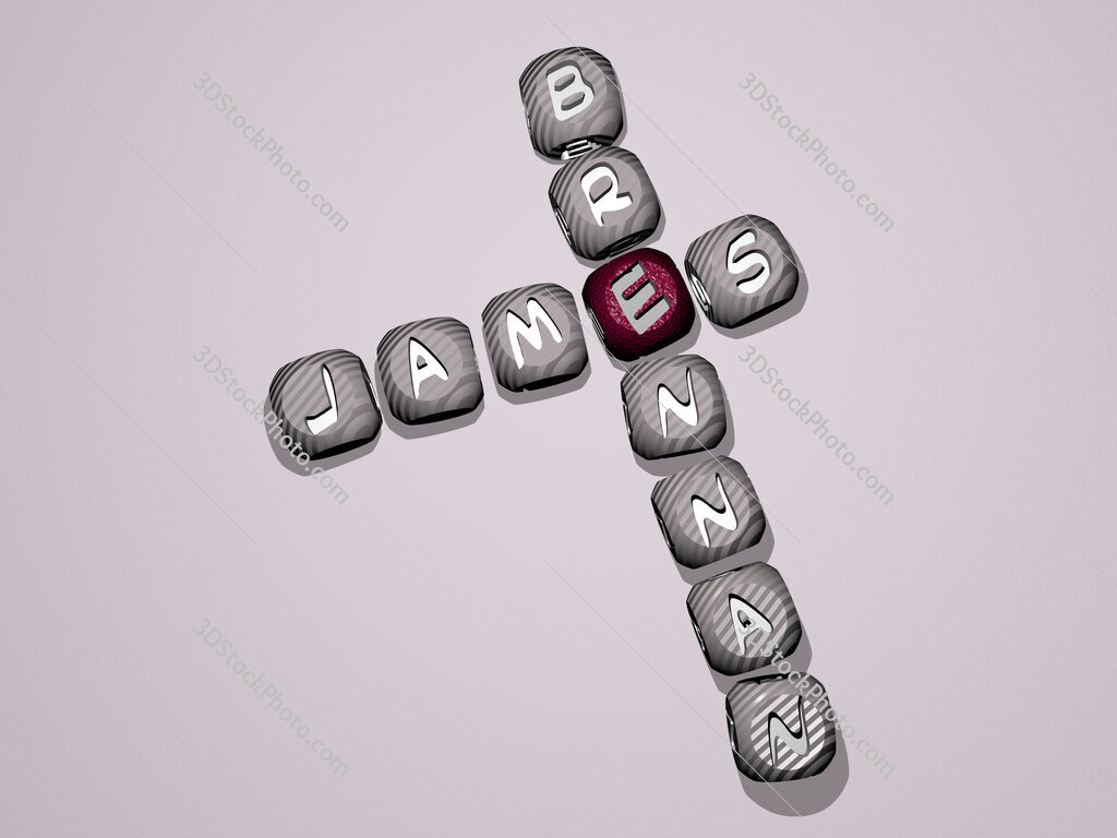 James Brennan crossword of dice letters in color