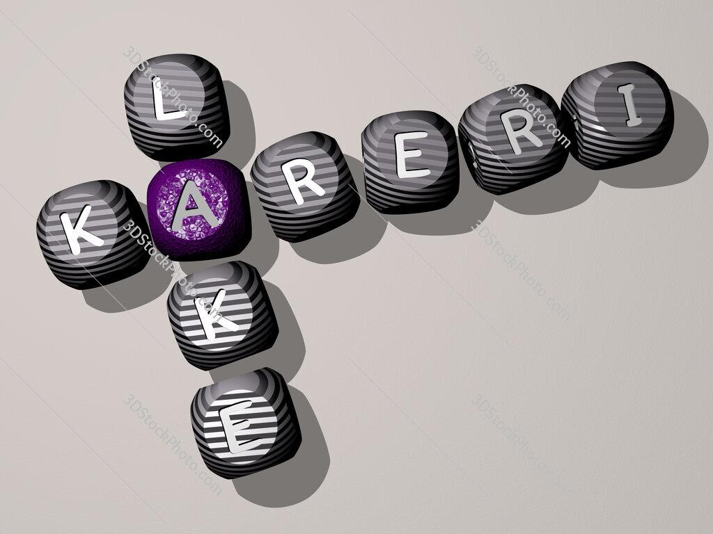 Kareri Lake crossword of dice letters in color