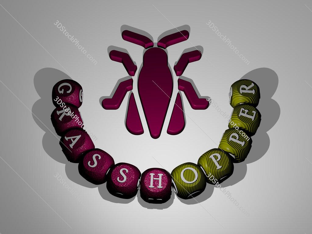 grasshopper text around the 3D icon
