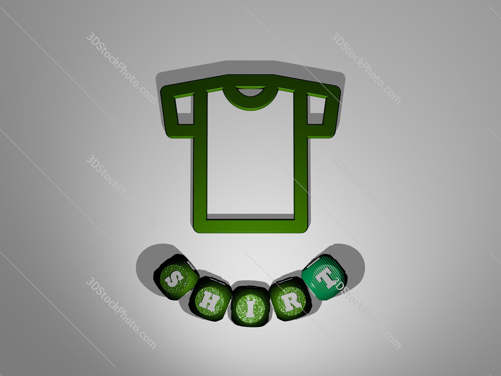 shirt text around the 3D icon