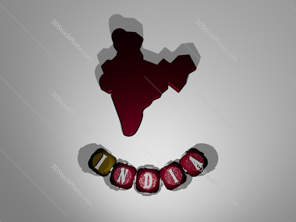 india text around the 3D icon