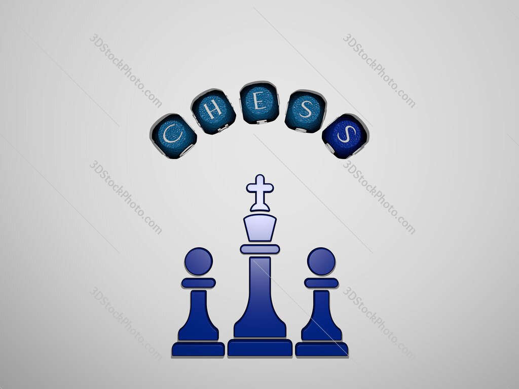 chess icon surrounded by the text of individual letters