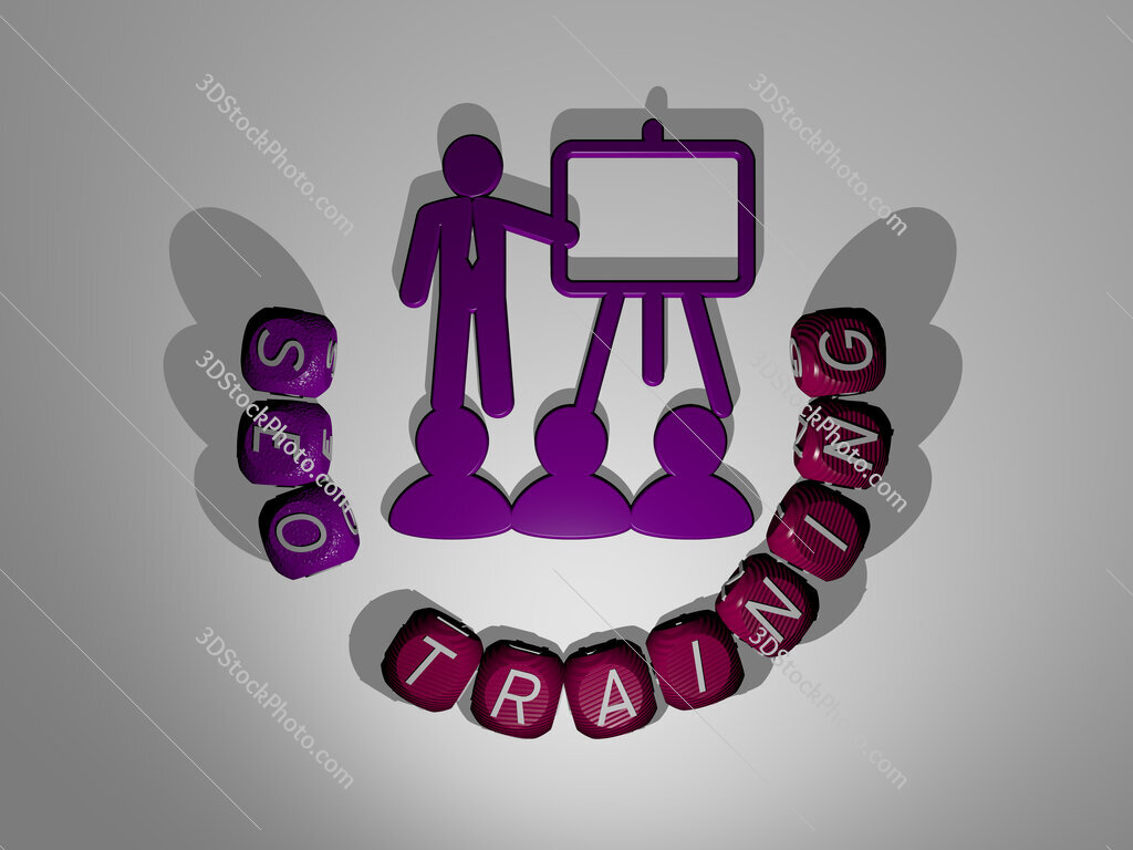 seo training text around the 3D icon