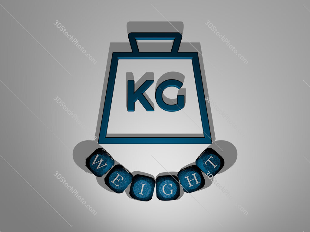 weight text around the 3D icon