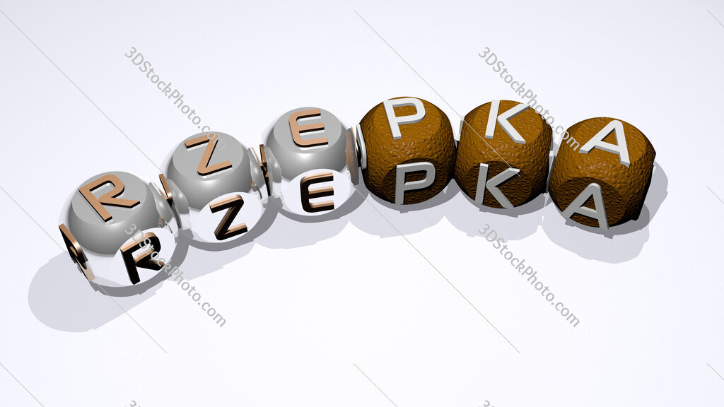 Rzepka text of dice letters with curvature