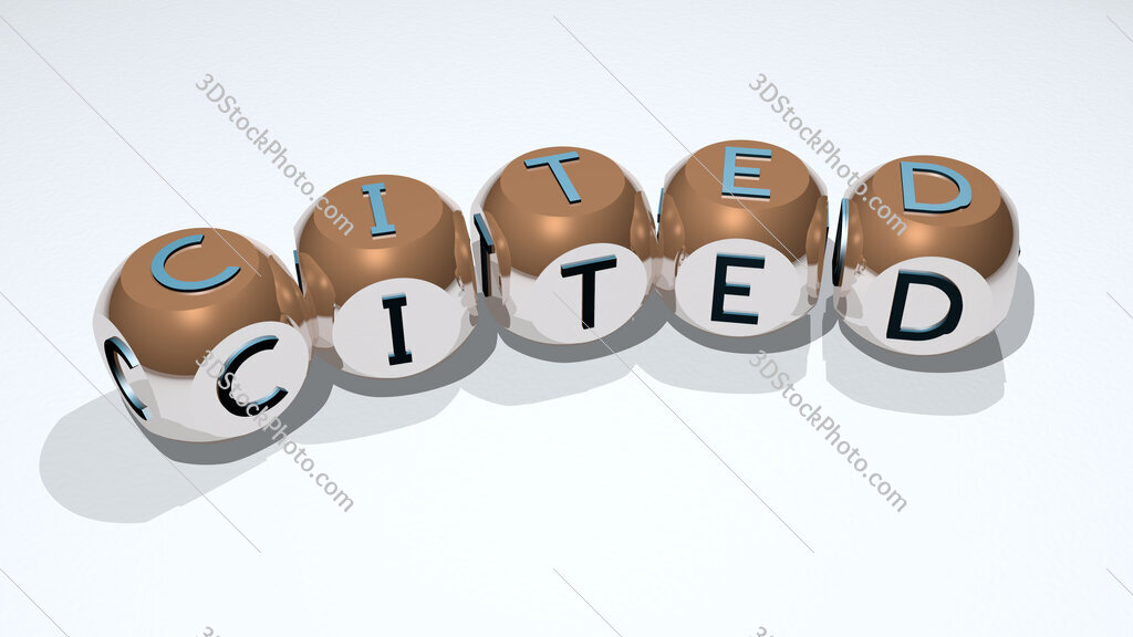 CITED text of dice letters with curvature