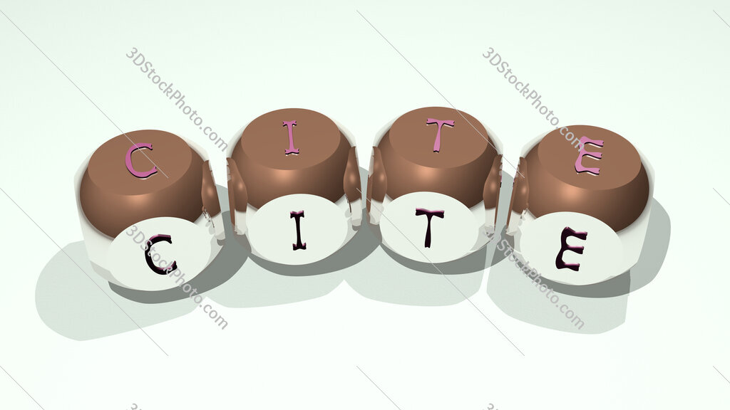 CITE text of dice letters with curvature