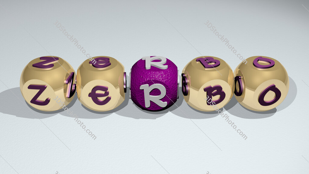 Zerbo text of cubic individual letters