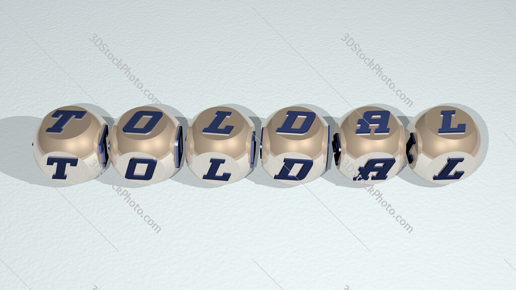Toldal text of cubic individual letters