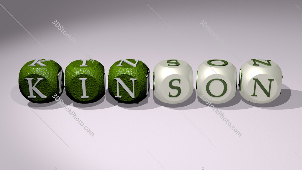 Kinson text of cubic individual letters