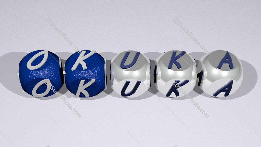 Okuka text of cubic individual letters