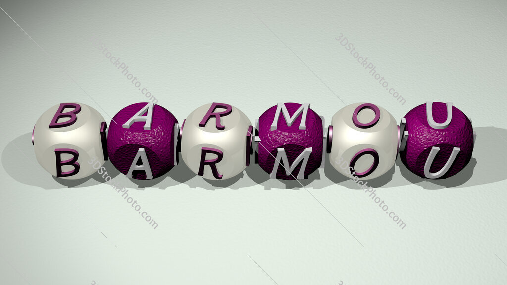 Barmou text of cubic individual letters