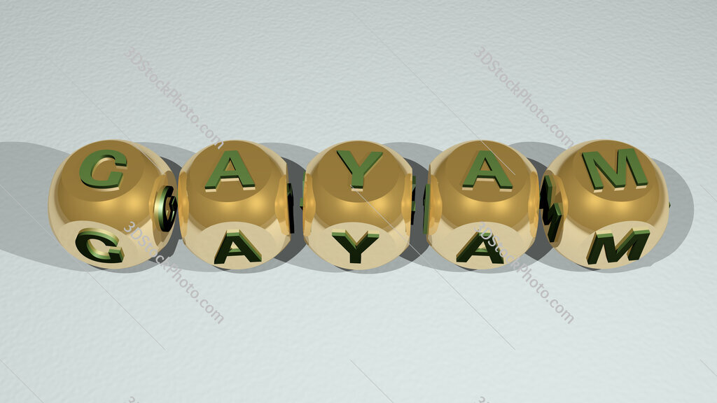 Gayam text of cubic individual letters