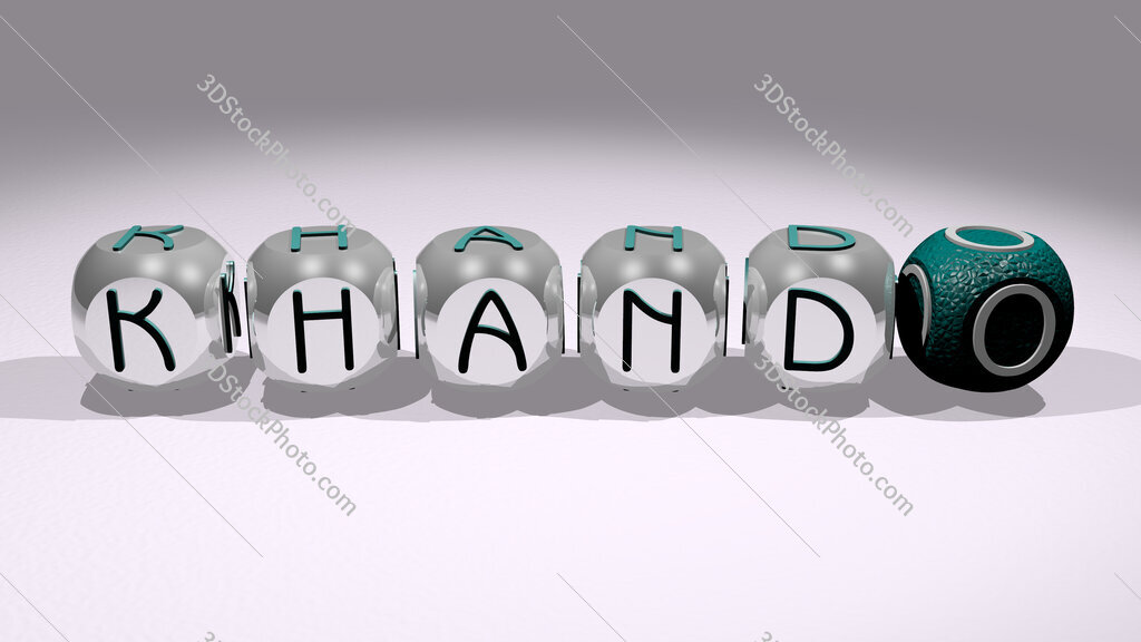 Khando text of cubic individual letters