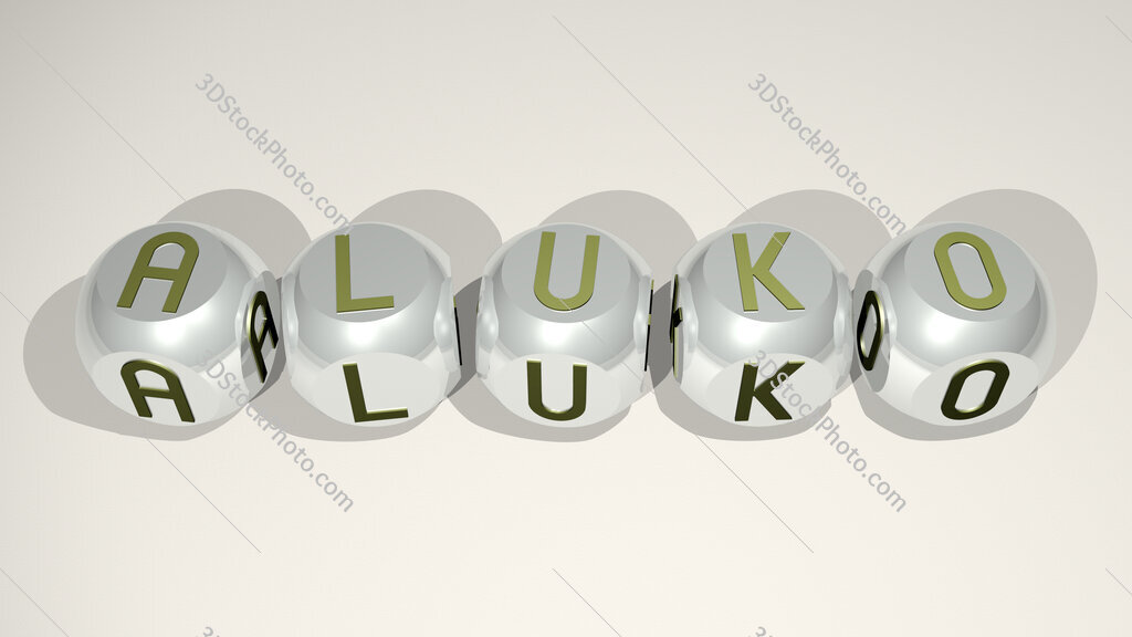 Aluko text of cubic individual letters