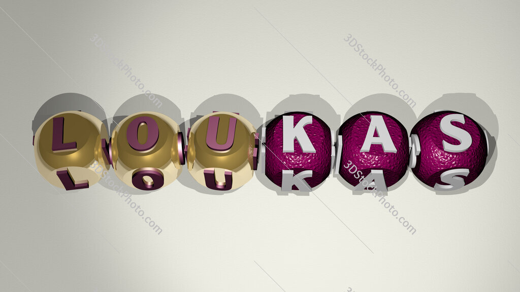 Loukas text of cubic individual letters