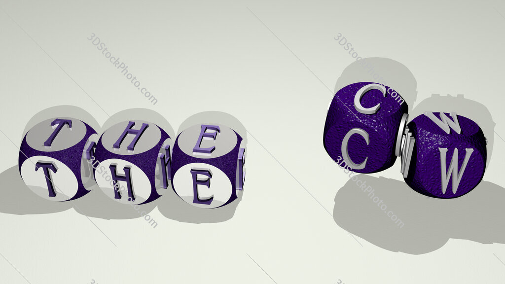 The CW text by dancing dice letters