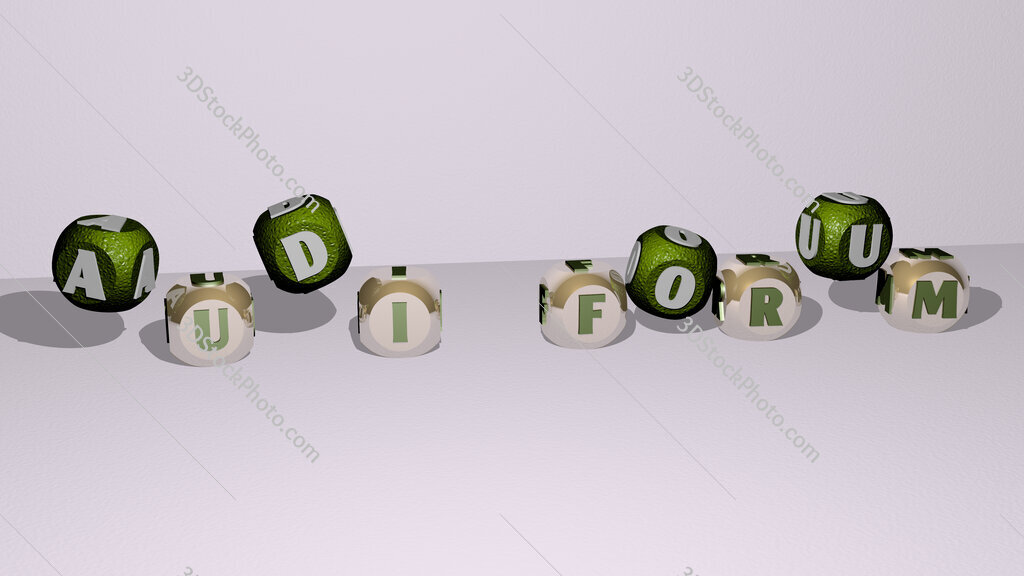 Audi Forum dancing cubic letters