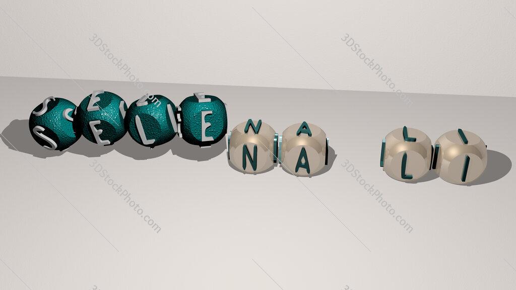 Selena Li dancing cubic letters