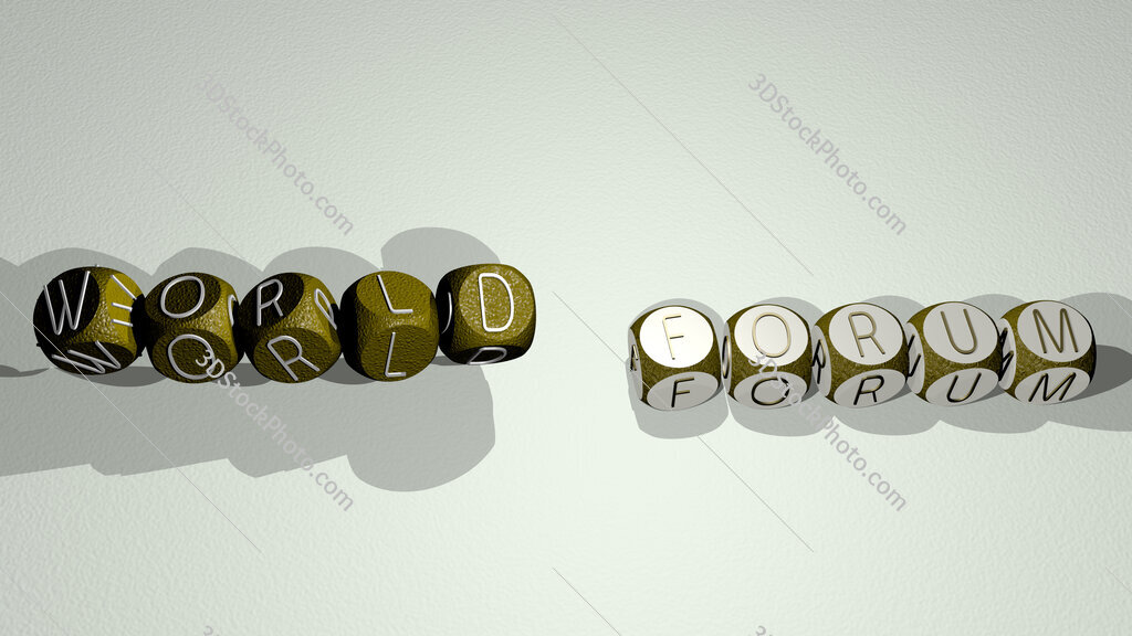 World Forum text by dancing dice letters