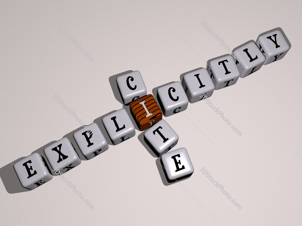 explicitly cite crossword by cubic dice letters