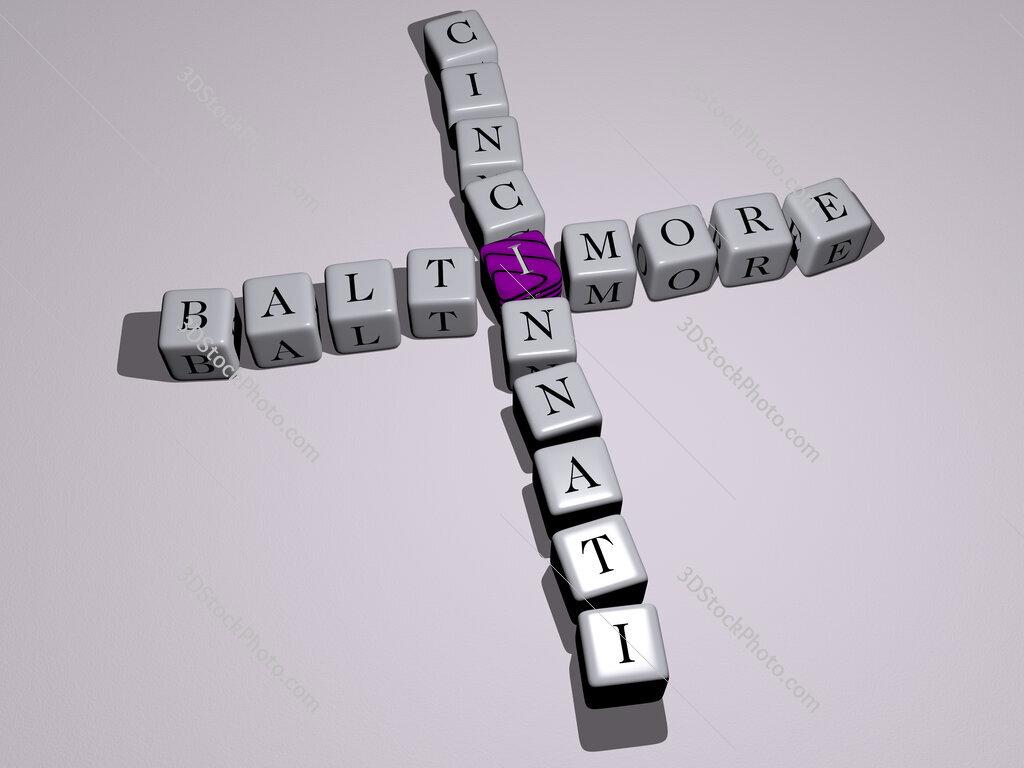 baltimore cincinnati crossword by cubic dice letters