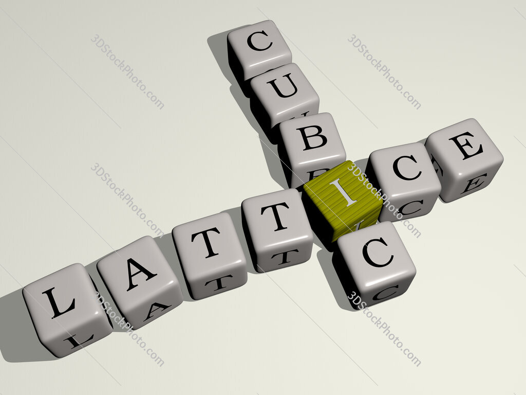 lattice cubic crossword by cubic dice letters