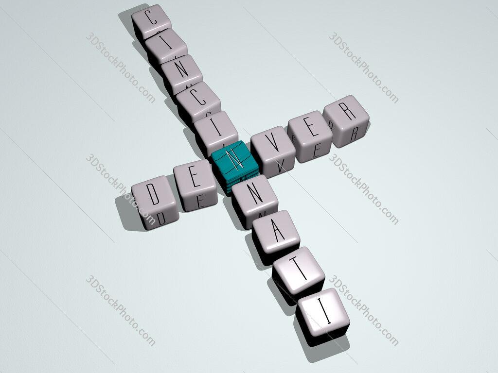 denver cincinnati crossword by cubic dice letters