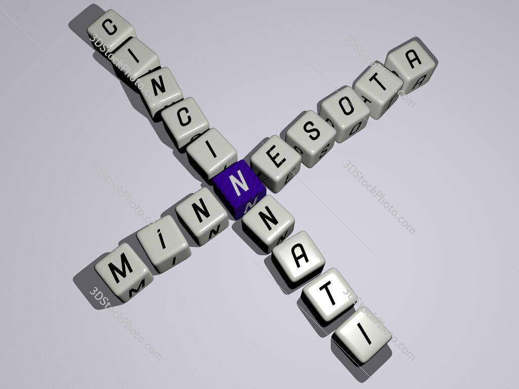 minnesota cincinnati crossword by cubic dice letters