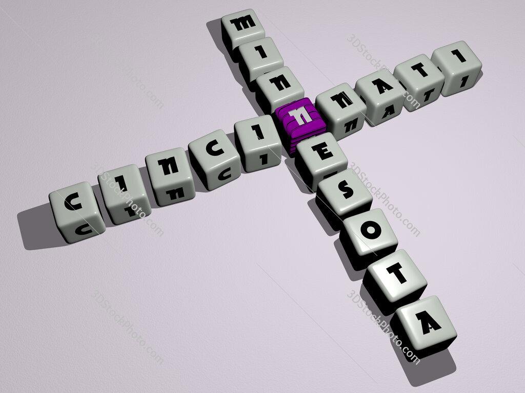 cincinnati minnesota crossword by cubic dice letters