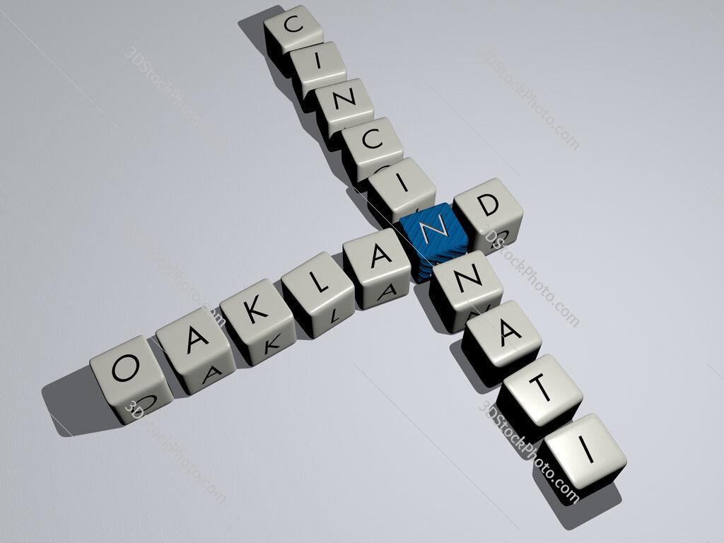 oakland cincinnati crossword by cubic dice letters