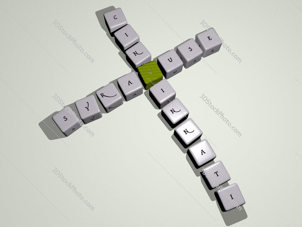 syracuse cincinnati crossword by cubic dice letters