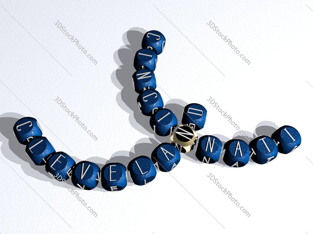 cleveland cincinnati curved crossword of cubic dice letters