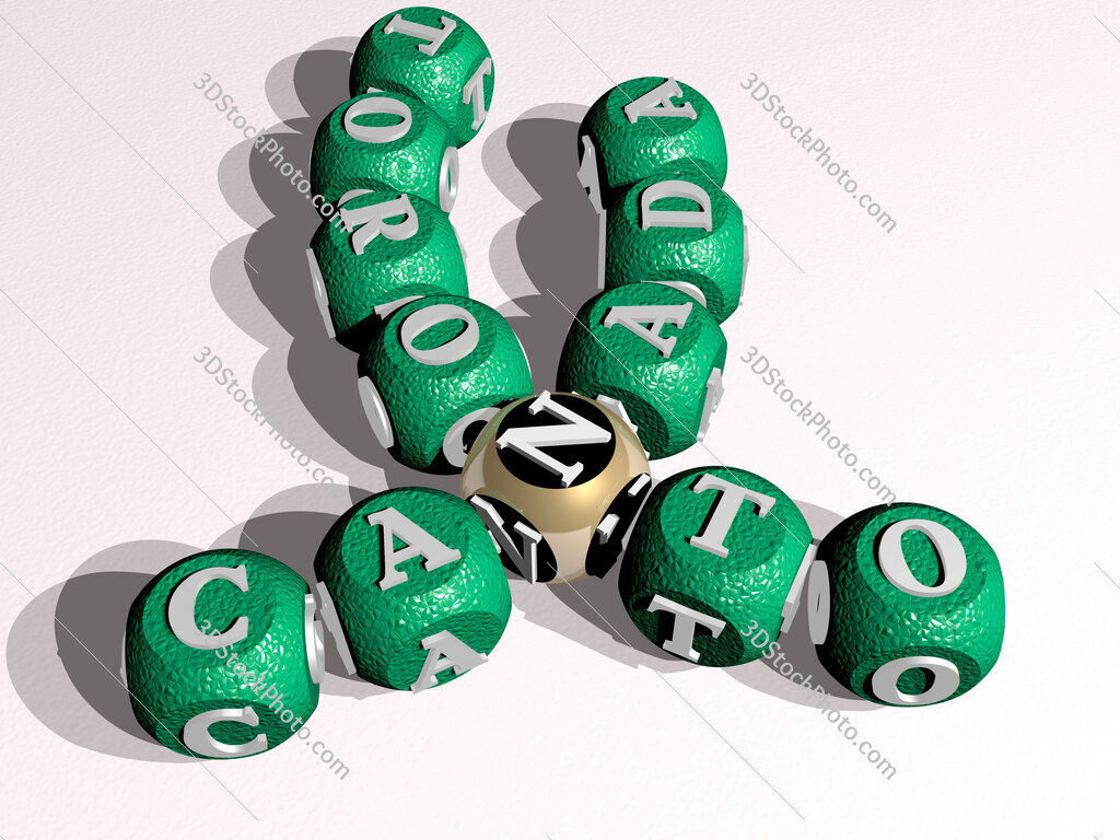 canada toronto curved crossword of cubic dice letters