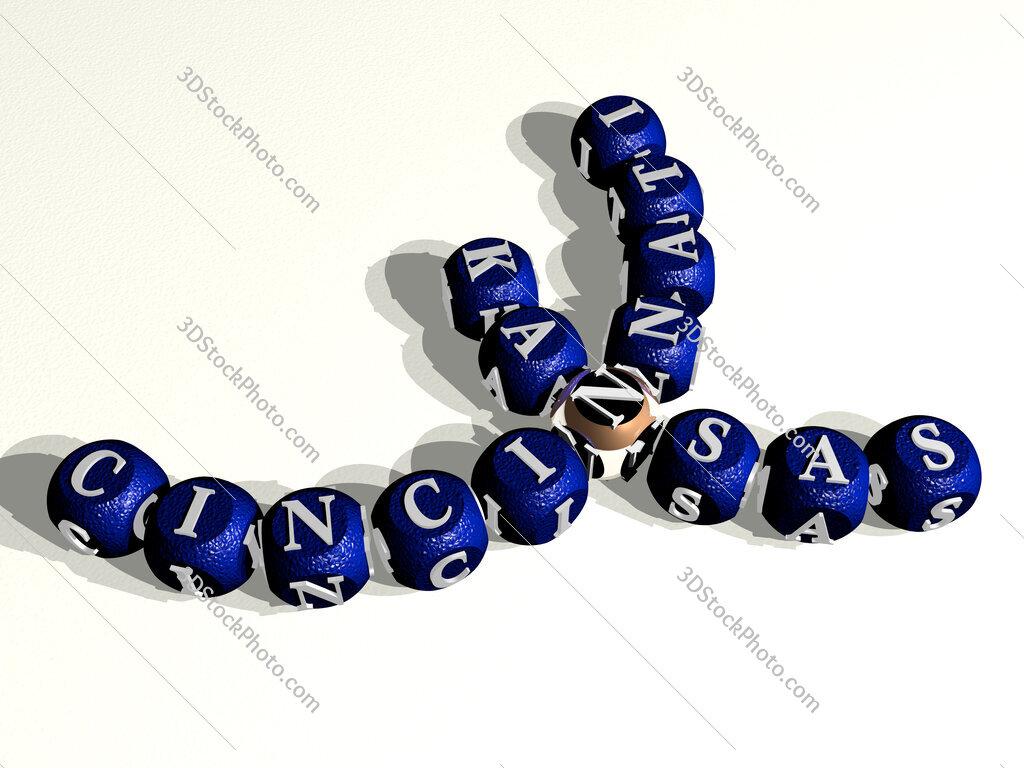 cincinnati kansas curved crossword of cubic dice letters